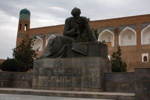 A statue of al-Khwarizmi in Uzbekistan. Image: Jori Avlis, via Flickr.