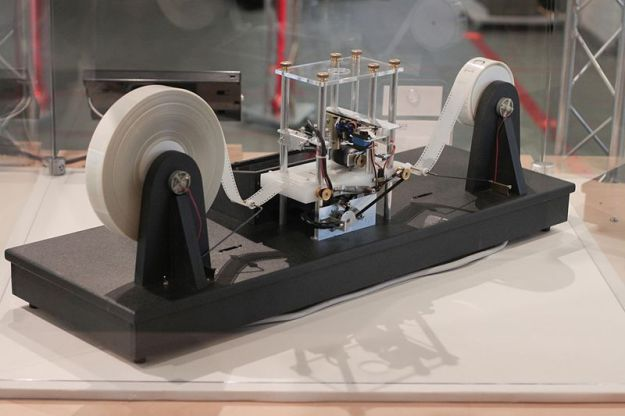A Turing Machine, without infinite tape. Image: Rocky Acosta, via Wikimedia Commons.