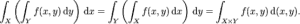 Fubini's theorem.