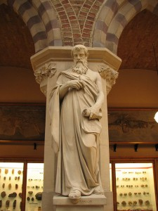 Statue of Euclid in the Oxford Museum of Natural History, Courtesy of Lawrence OP on Flickr.