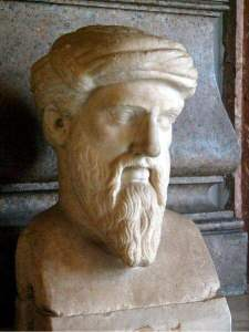 Sculpture of Pythagoras in the Capitoline Museums, in Rome. Image: Galilea, via Wikipedia